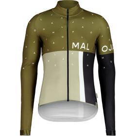Maloja PushbikersM. 1/1 Langarm Fahrrad Trikot Herren oliv/grün